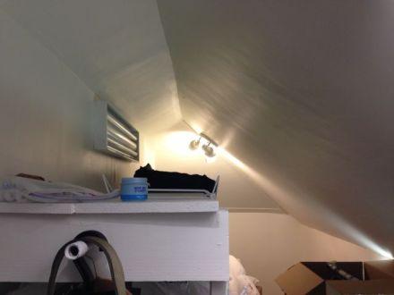 building enclosure vaulted ceiling attic kneewall heat gain loss insulation air sealing