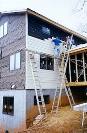 hardiplank siding on structural insulated panel passive solar green home jw