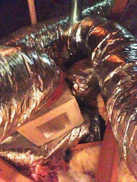 hvac duct flex ductboard junction box squish air flow