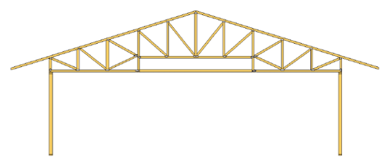 duct system conditioned space modified plenum truss