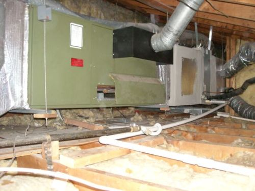 hvac furnace natural draft horizontal in attic