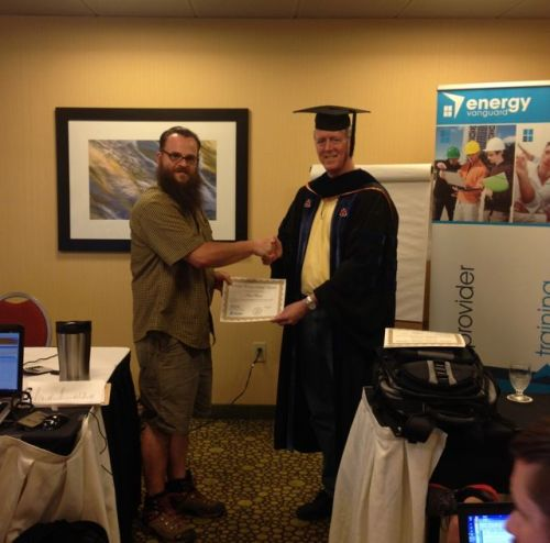 home energy rater hers training graduation june 2014
