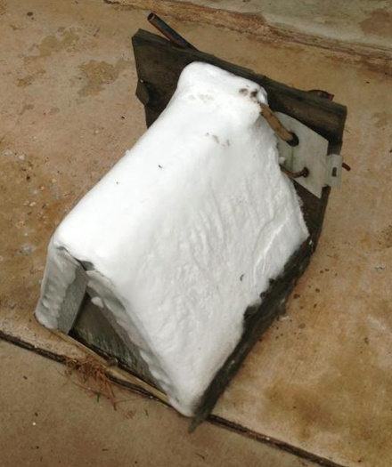 air conditioner evaporator coil frozen ice no air flow hvac hacks other screwups