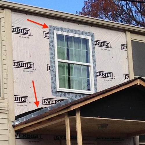 house wrap flashing details moisture management problem window