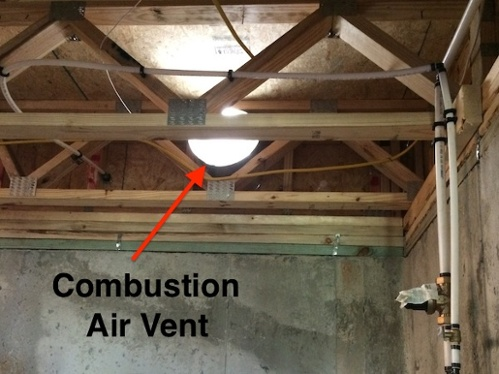 combustion air vent basement band joist 600