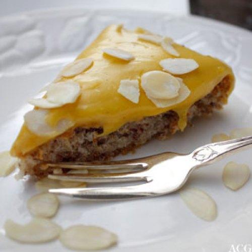 Suksessterte - gul kake