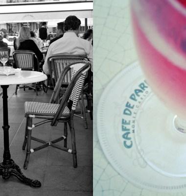 2 bilder fra Cafe de Paris