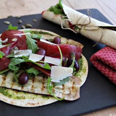 Bilde av wraps med bresaola og grillet aubergine