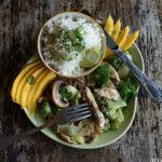 Kylling og brokkoli i grønn curry