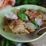 One pot pasta med kylling og sopp