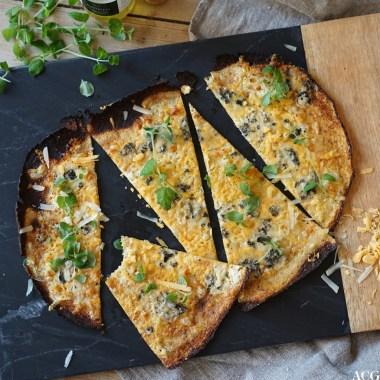blomkålpizza med 4 oster