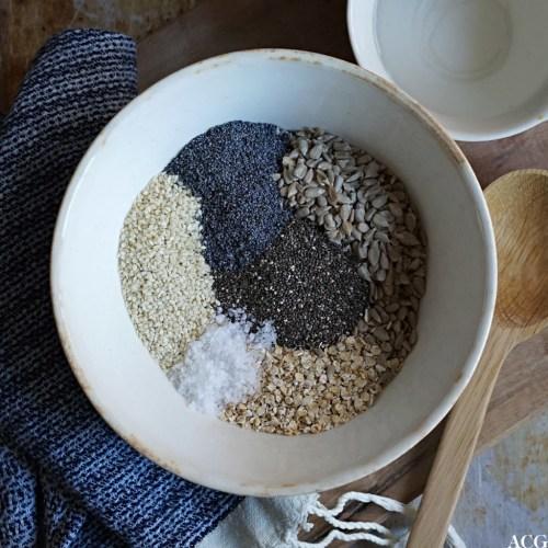 havre og frø til knekkebrød med chia