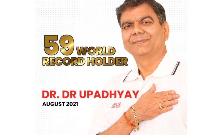 The 59 World Record Holder Master Blaster - Global Lyricist and Novelist Dr.D.R.Upadhyay