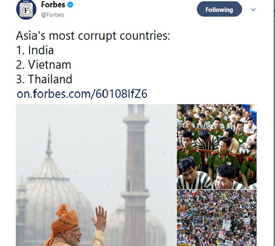Forbes Corrupt India Corruption