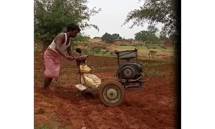 power tiller mahesh karmali tractor farming plough
