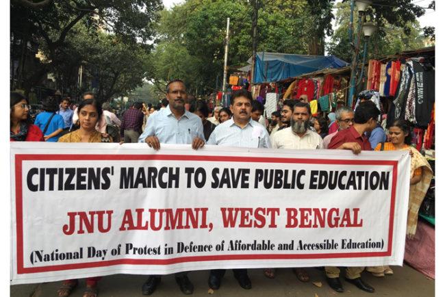 JNU Alumni fees students kolkata universities west bengal