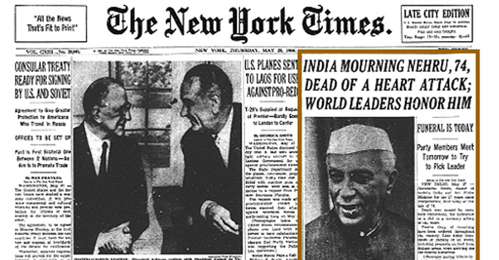 jawaharlal nehru death anniversary first prime minister of india