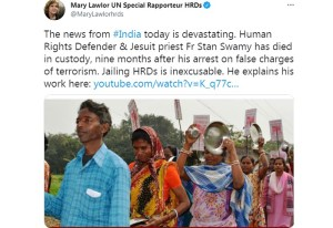 stan swamy india democracy united nations human rights
