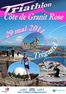 Affiche Triathlon Côte de Granit Rose 2011