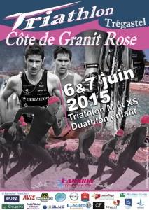Affiche Triathlon Côte de Granit Rose 2015
