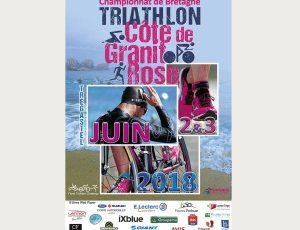 Triathlon Côte de Granit Rose - Affiche - Création Enez Web Paper