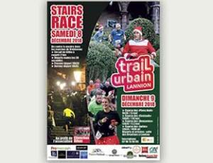 affiche trail urbain Lannion 2018