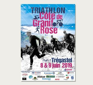 affiche triathlon Côte de Granit Rose - Lannion Triathlon