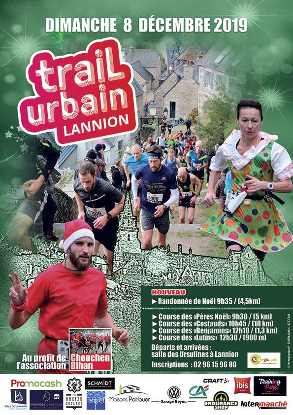 Affiche trail urbain Lannion 2019