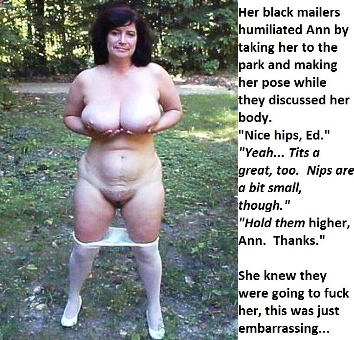 Blackmailed women enf forced with captions