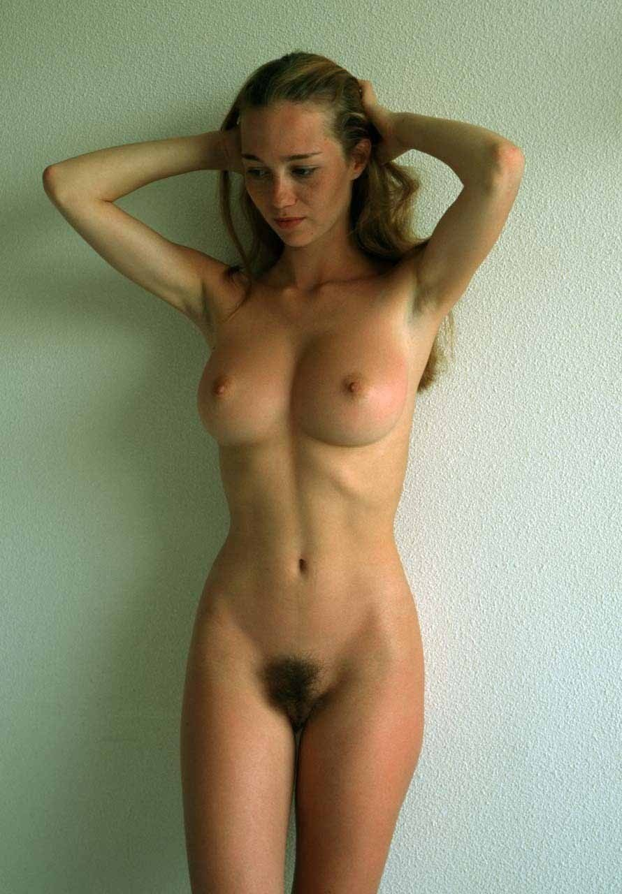embarrassed hot babe nude