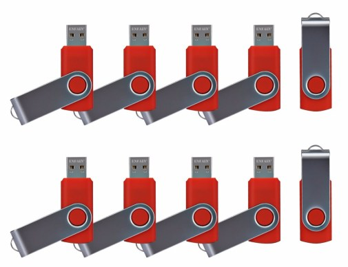 ENFAIN USB THUMB DRIVES 10 PACK RED