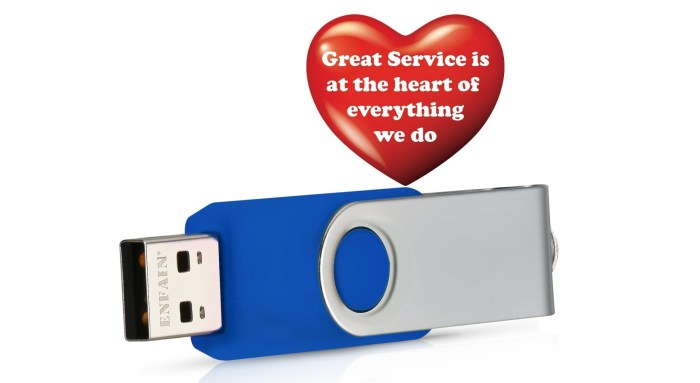 enfain usb drive with service heart