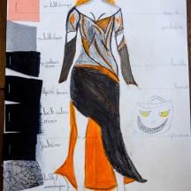 Croquis des costumes réalisés par les enfants du stage (avec l'aide de Selhouah)