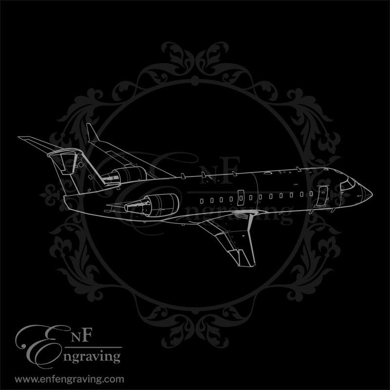 Bombardier Aircraft Engraving Artwork