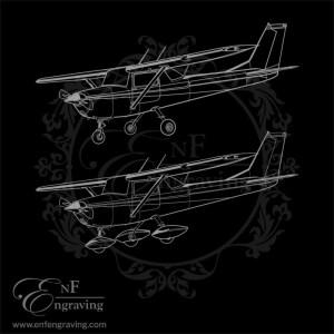Cessna 152 Engraving Artwork (2 Designs)