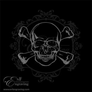 Skull & Crossbones Engraving Artwork
