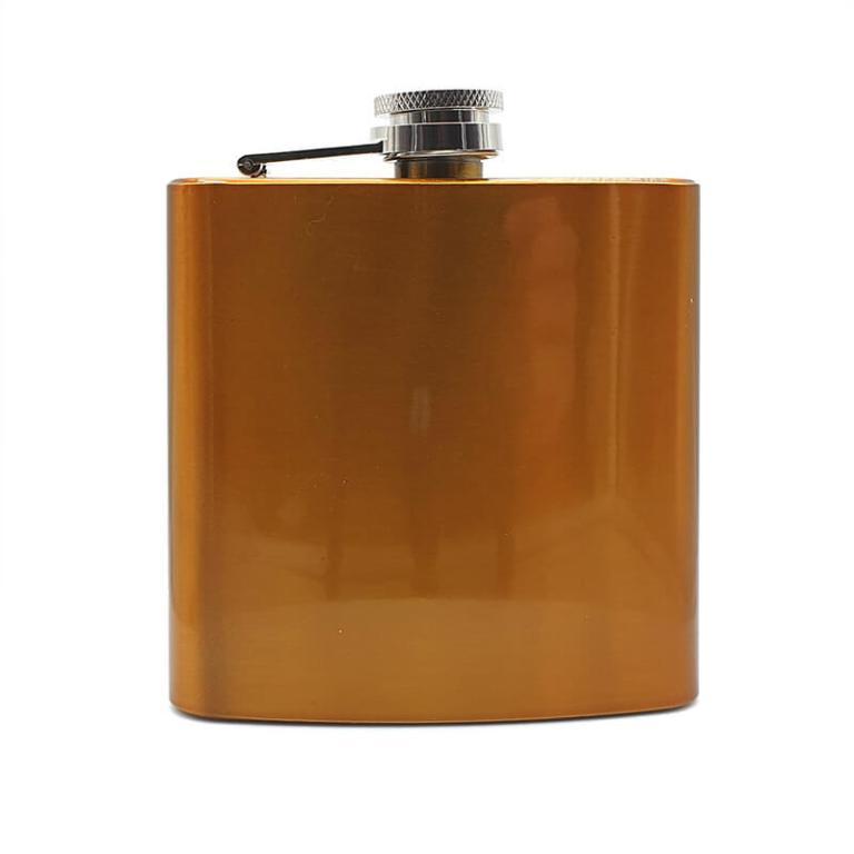 Orange 6oz Hip flask