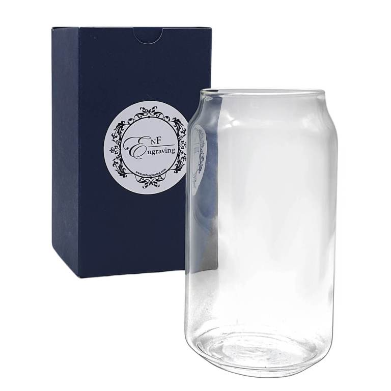 Drinks Can Glass with EnF Engraving Gift Box