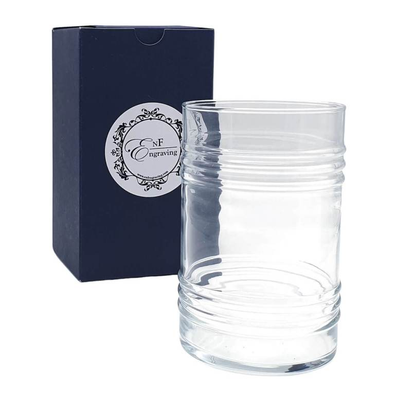 Barrel Glass with EnF Engraving Gift Box