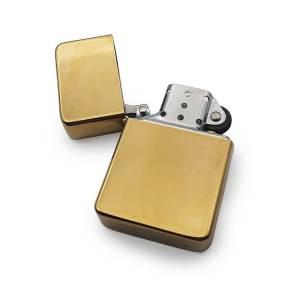 Brass Cigarette Lighter Open