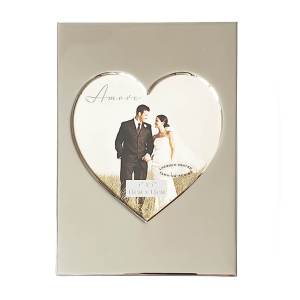 Silver Plated Heart Picture Photo Frame