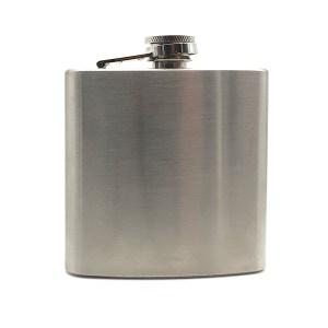 6oz Brushed Steel Hip Flask