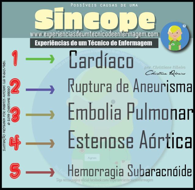 Possíveis causas de uma Síncope?