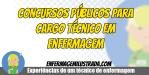 Concursos Públicos para o cargo Técnico em Enfermagem