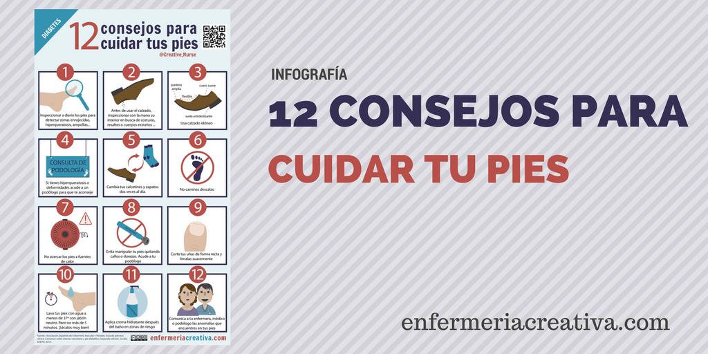 12 Consejos para el pie diabético