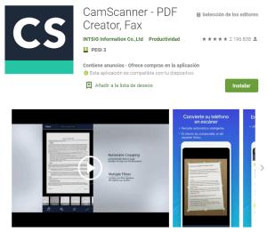 CamScanner PDF Creator, Fax