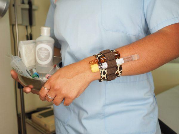 Brazalete para tubos de analitica pulsera para analiticas