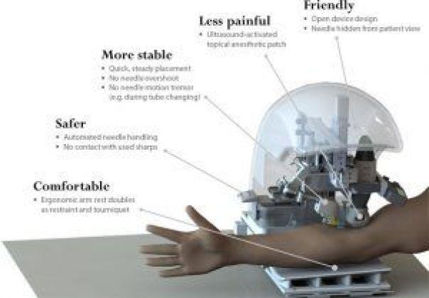 Robot para realizar extracciones sanguíneas