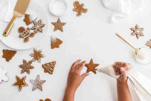 decorated gingerbread cookies with royal icing