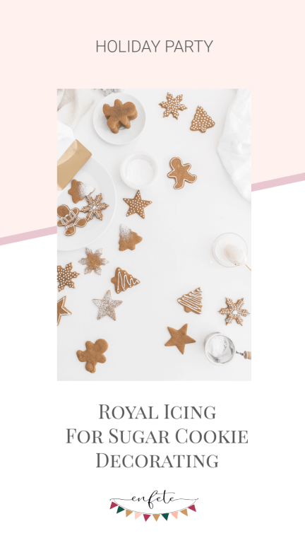 Making royal icing to pipe and flood decorate sugar cookies or gingerbread men.